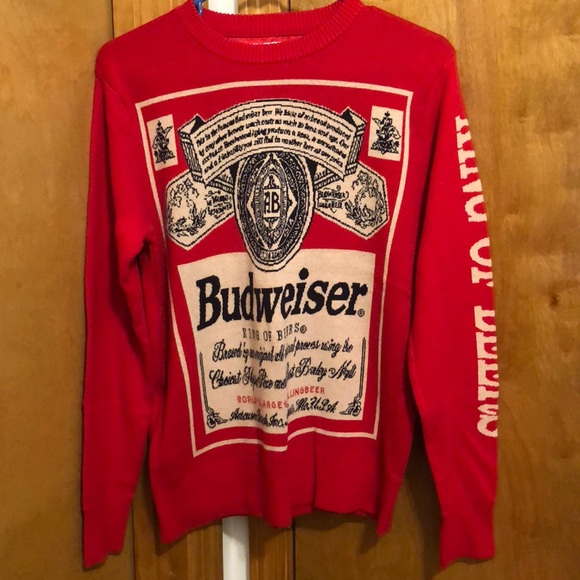 budweiser ugly christmas sweater